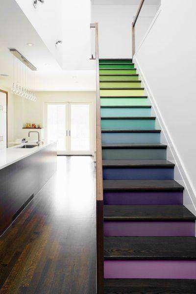 scale moderne per interni colorate gradazioni