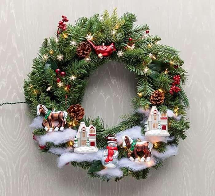 Ghirlande di natale idee non convenzionali - Ghirlande per porte natalizie ...