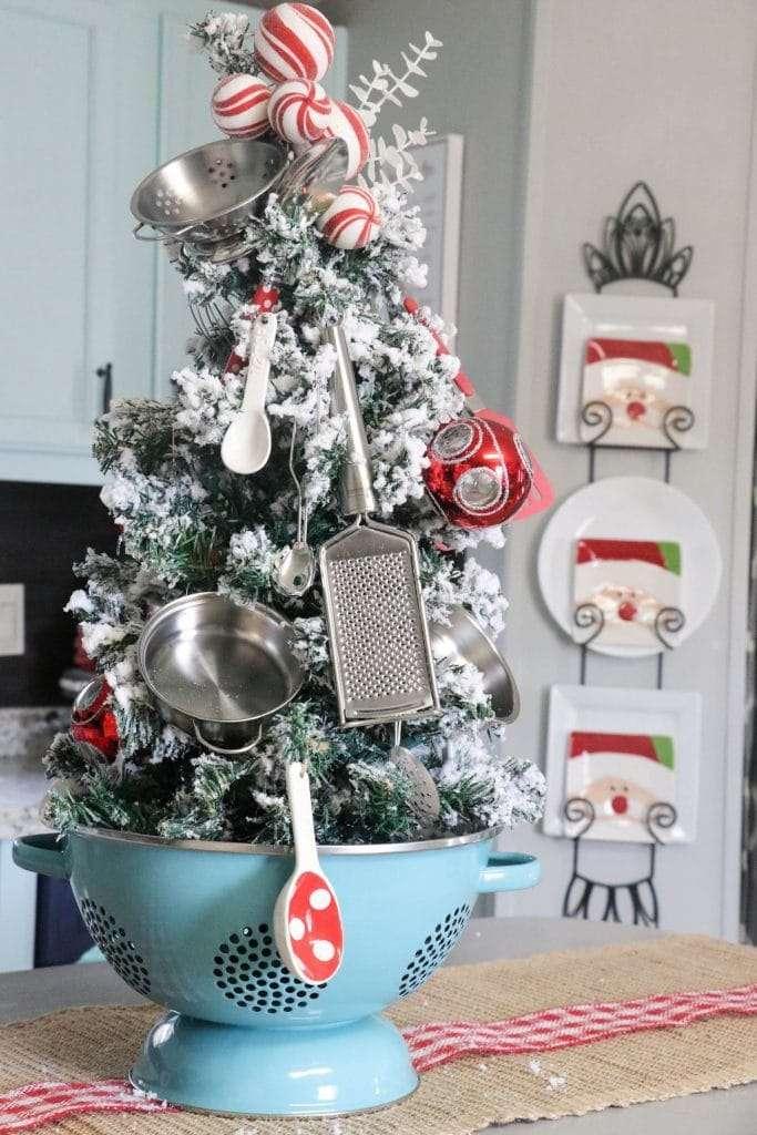 natale in cucina e alberi alternativi