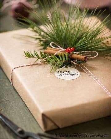 pacchetti regalo natalizi con spezie