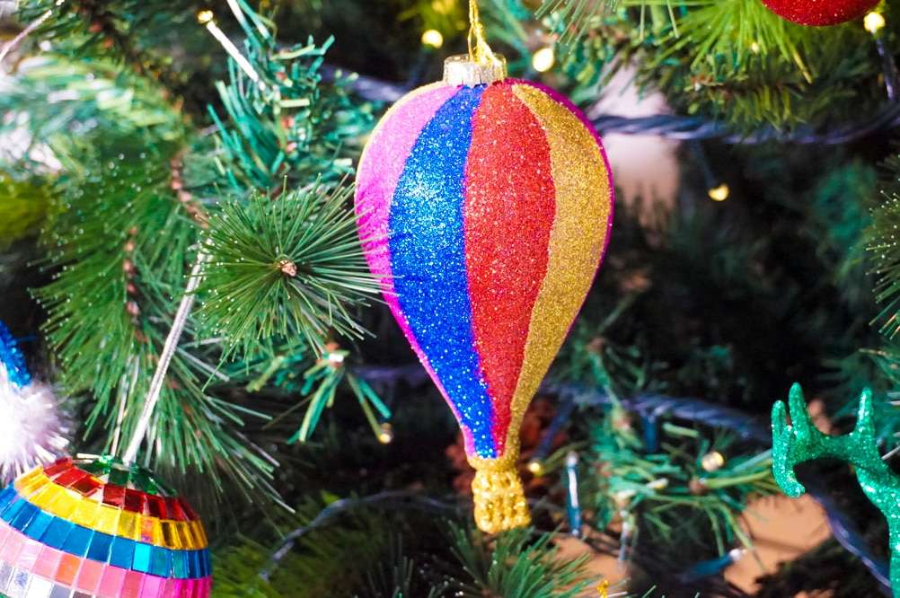 palline di natale glitterate per questo 2017