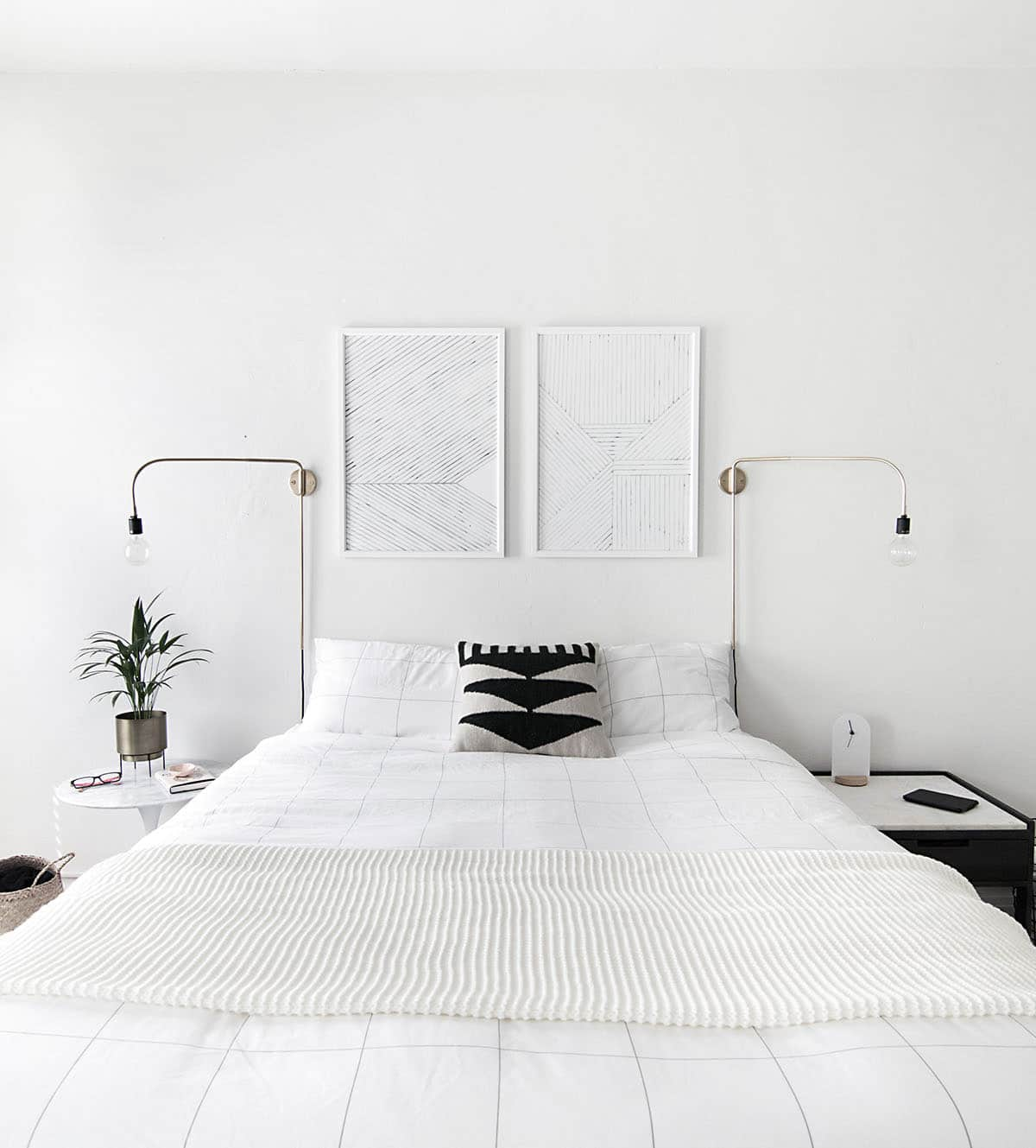Camera da letto bianca luce e bellezza fillyourhomewithlove for Camera letto minimal