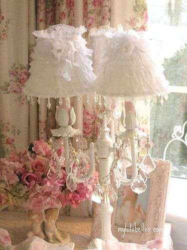 lampade stile shabby chic a candelabro