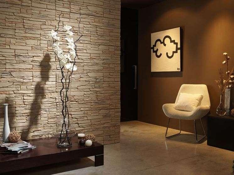 Pareti di pietra per interni di design blog arredamento - Pietre da rivestimento interno ...