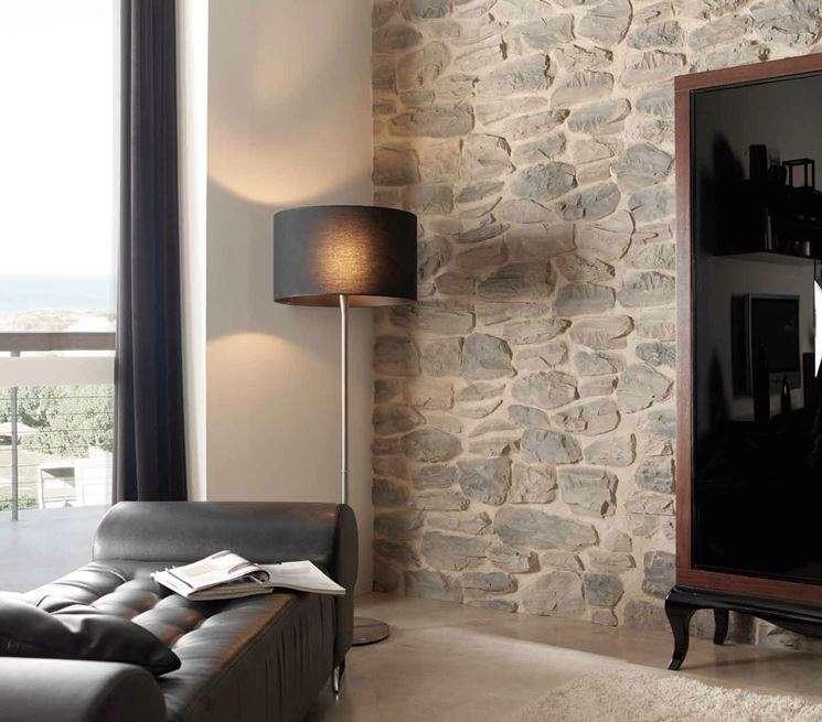 Pareti di pietra per interni di design blog arredamento - Pietre da parete per interni ...