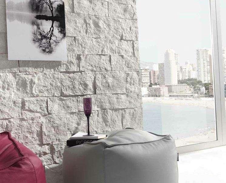 Pareti di pietra per interni di design arredamento