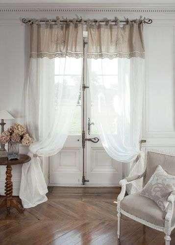 tende in stile provenzale con doppia balza
