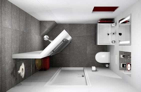 bagno piccolo con parete doccia