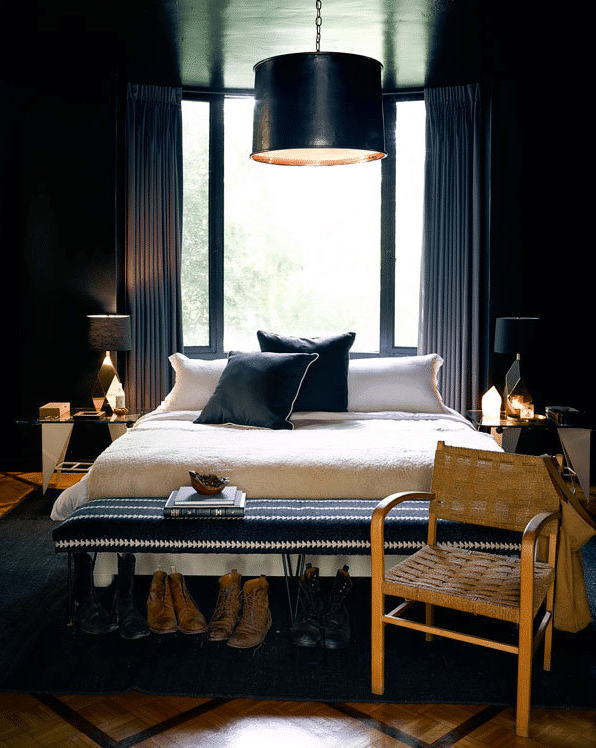 Colori pareti camera da letto: idee scure | Fillyourhomewithlove