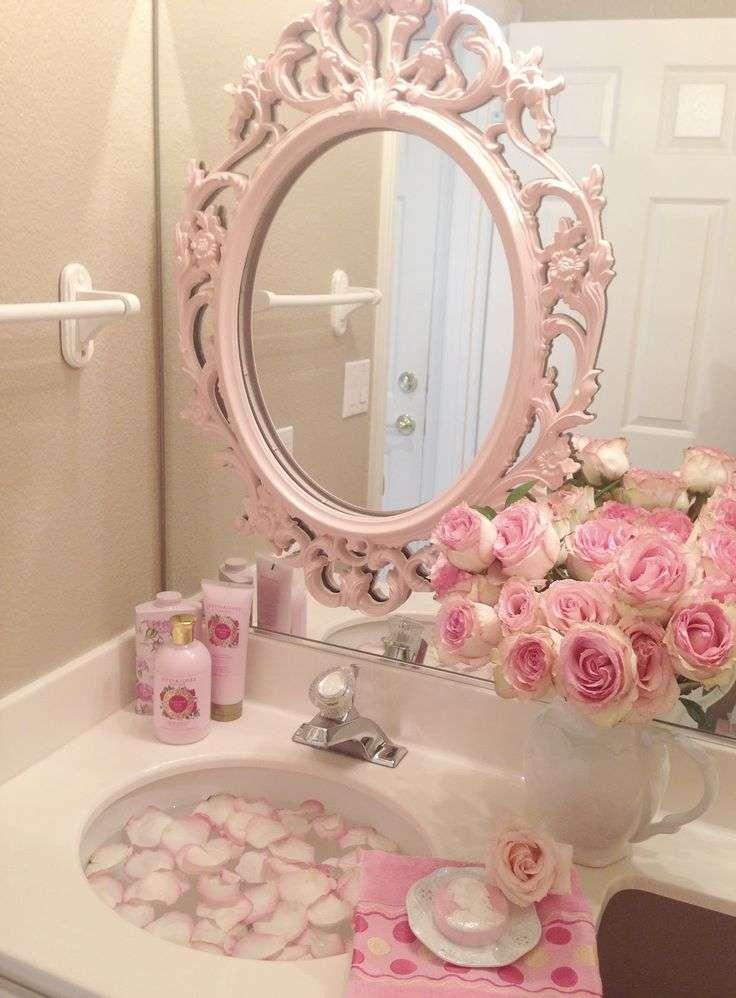 specchi shabby rosa