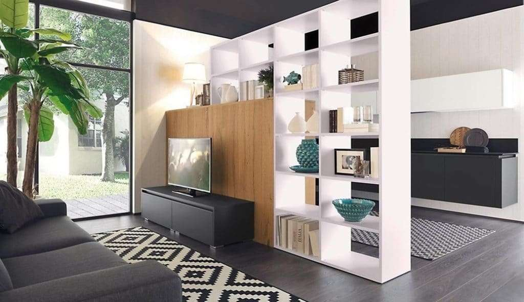 Open space come dividere zona living e cucina for Arredare zona living