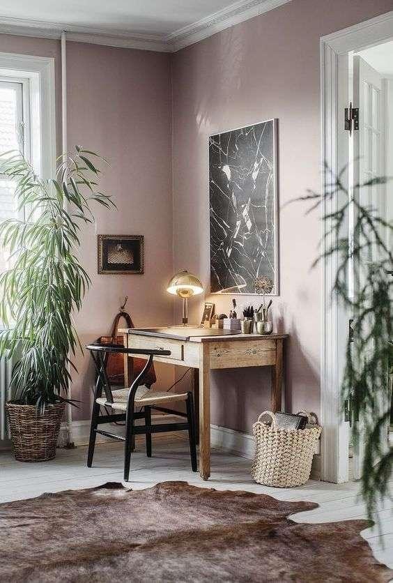 Colori pareti soggiorno: tinta unita opaca rosa | Fillyourhomewithlove