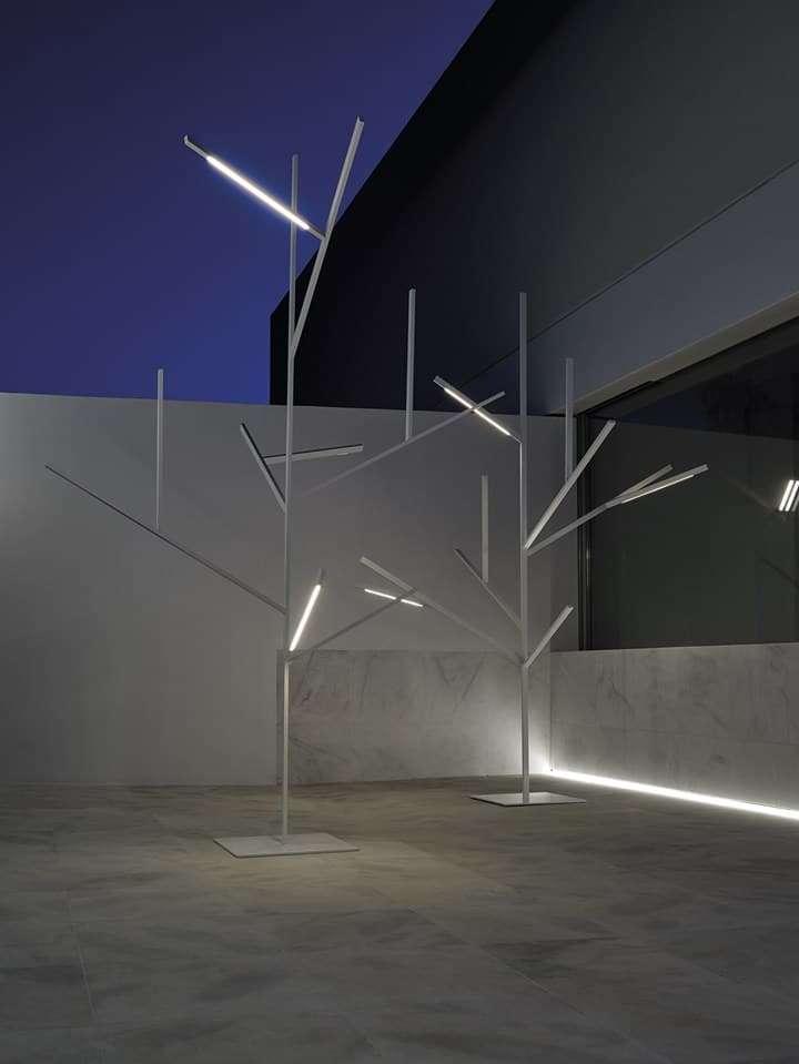 Albero illuminante luce per esterno
