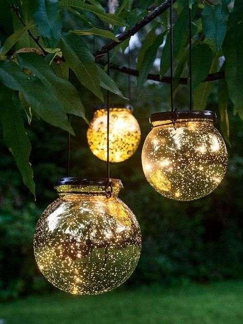 Decorazioni in vetro illuminazione giardino
