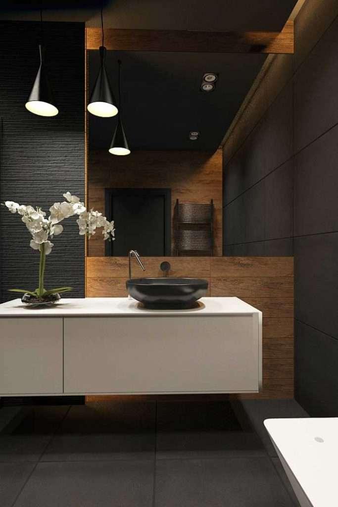 lampadari bagno in nero