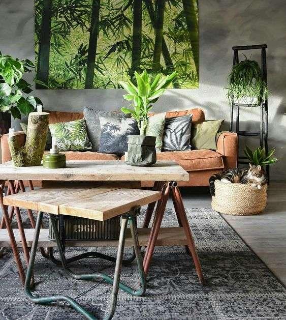 tavolo da caffè in stile industriale
