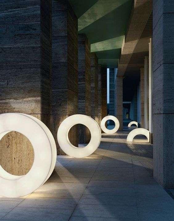 luci per esterno di varie forme