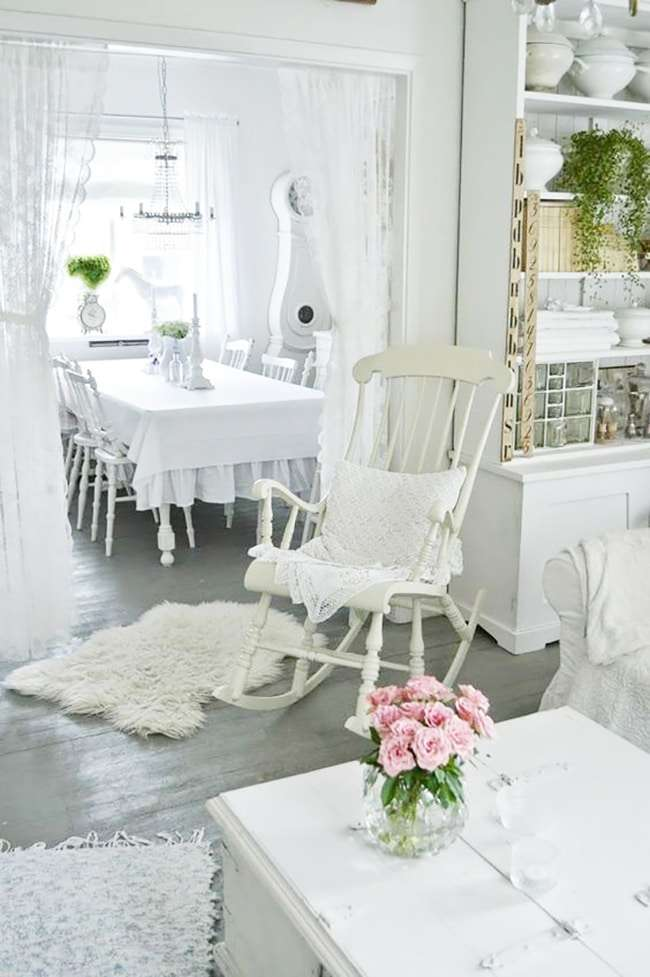 Mobili shabby chic idee in bianco blog fillyourhomewithlove - Mobili soggiorno shabby ...