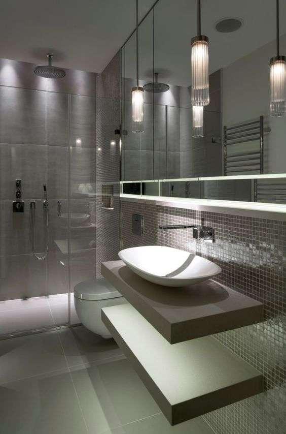 Lampadari bagno 10 idee sospese irresistibili fillyourhomewithlove - Lampadario da bagno ...