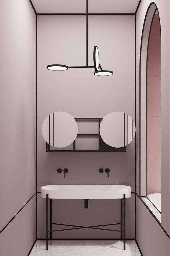 doppio specchio per bagno rotondo
