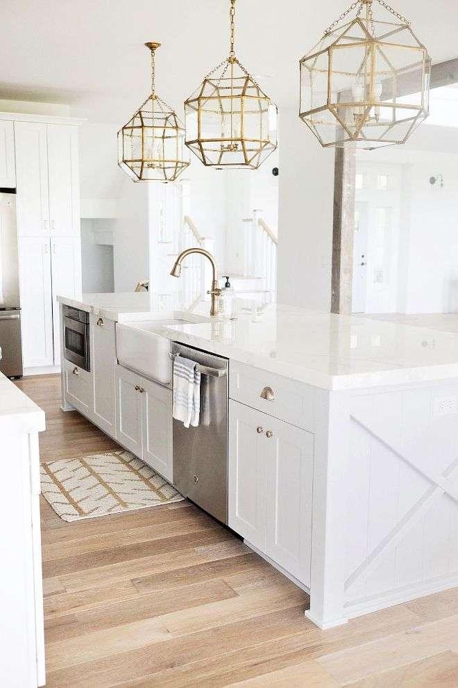 esempio di lampadario da cucina geometrico