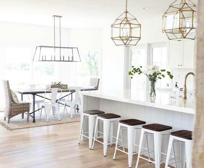 lampadari in metallo geometrici da cucina