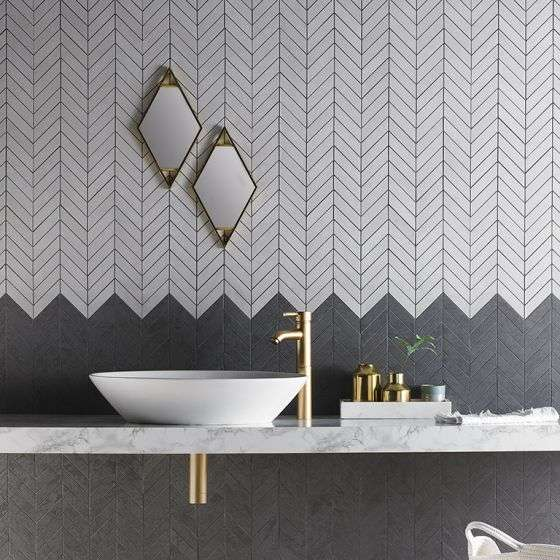 specchio doppio per bagno geometrico