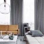 Tende color tortora tendente al grigio: sei versioni in stile contemporaneo