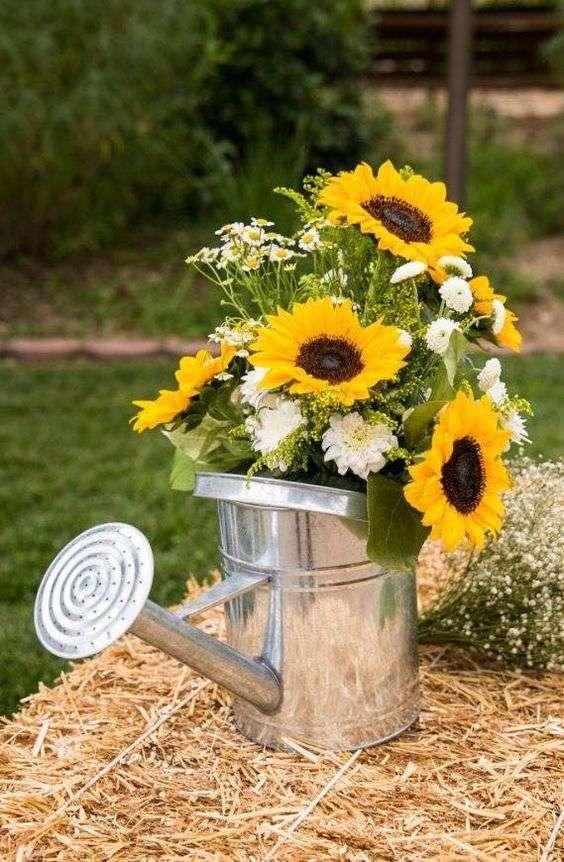 composizioni floreali con girasoli