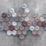 Idee rivestimento bagno tridimensionale: forma e colore!
