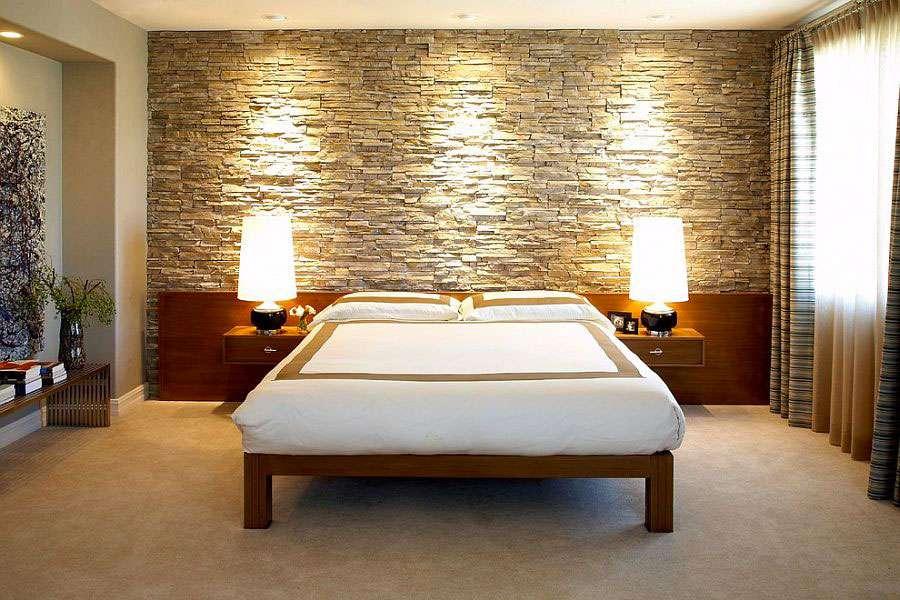 Pareti in pietra camera da letto: quante soluzioni ...