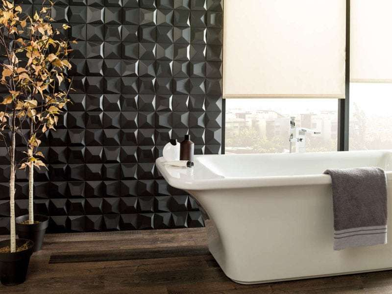 piastrelle 3d bagno lucide