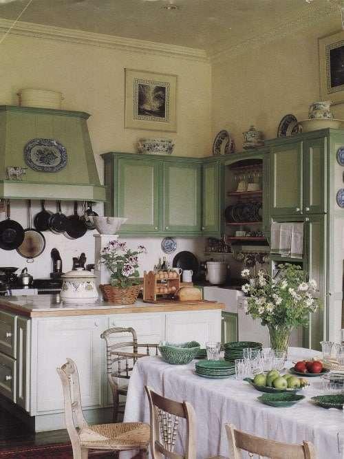 cucina provenzale verde