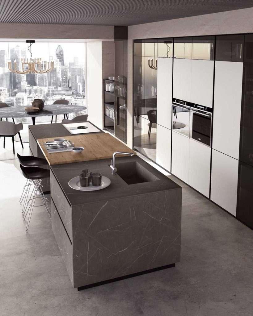 Dispensa cucina e piani di lavoro cucinesse fillyourhomewithlove - Hpl piano cucina ...