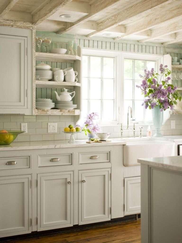 Cucine shabby chic: colori e sfumature | Fillyourhomewithlove.com