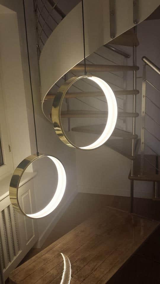 lampadari a led circolari