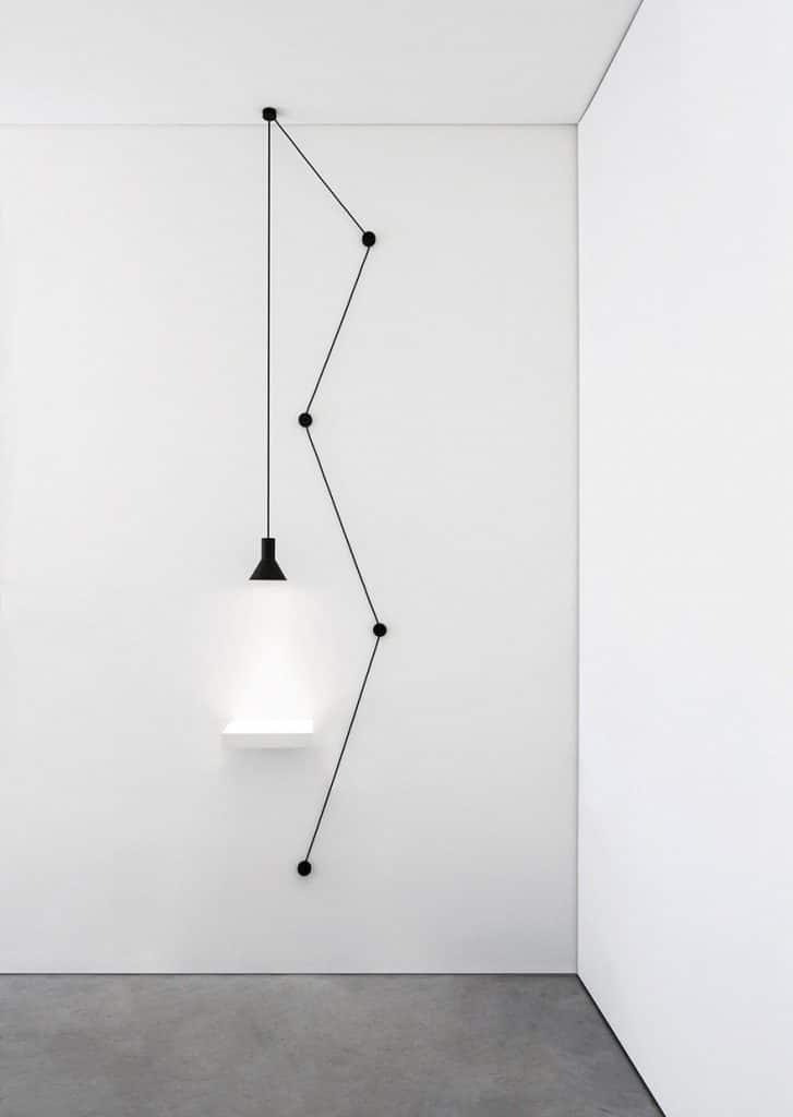 lampadari muro con filo