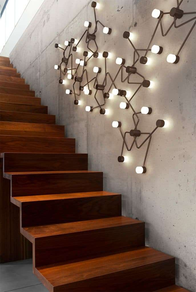 lampadari muro design irregolare