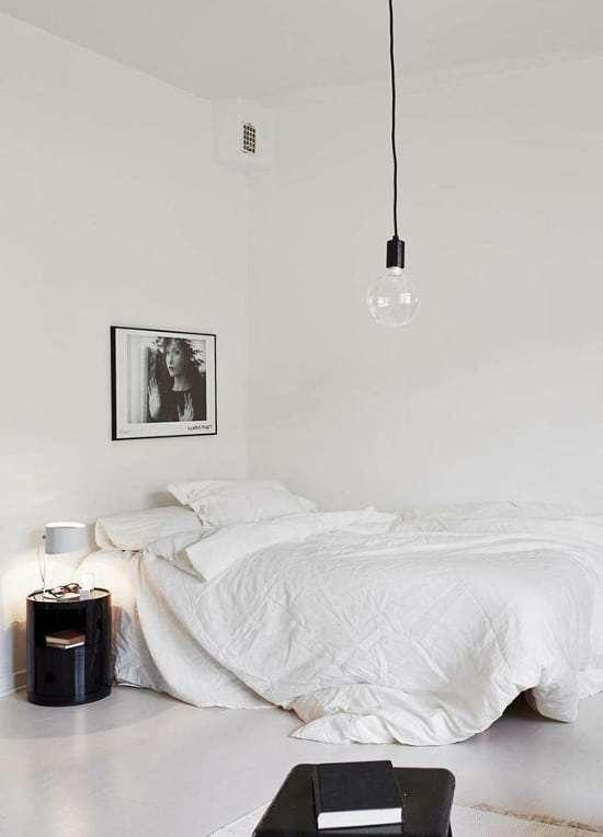 lampadario camera da letto minimalista