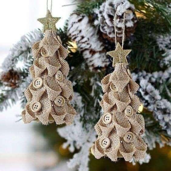 addobbi natalizi per albero shabby
