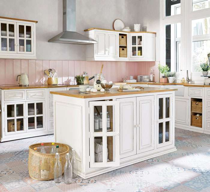 cucine con isola shabby
