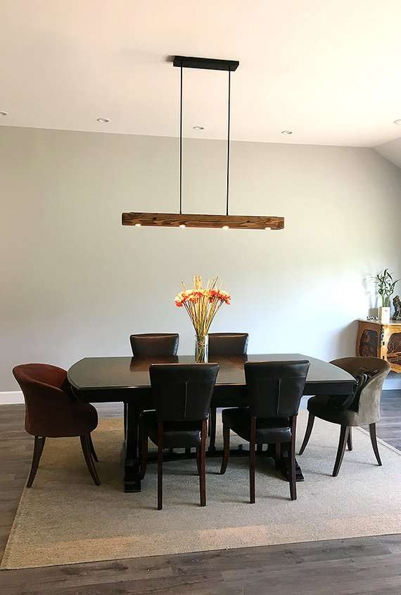 lampadari in legno naturale