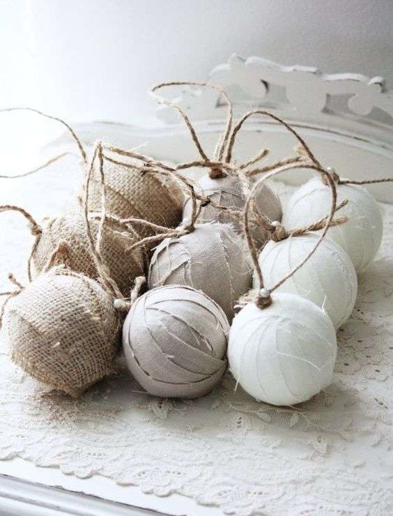 palle di natale shabby chic con feltro