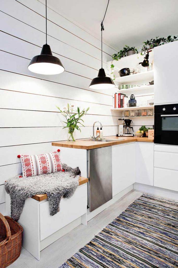 cucine piccole luminose