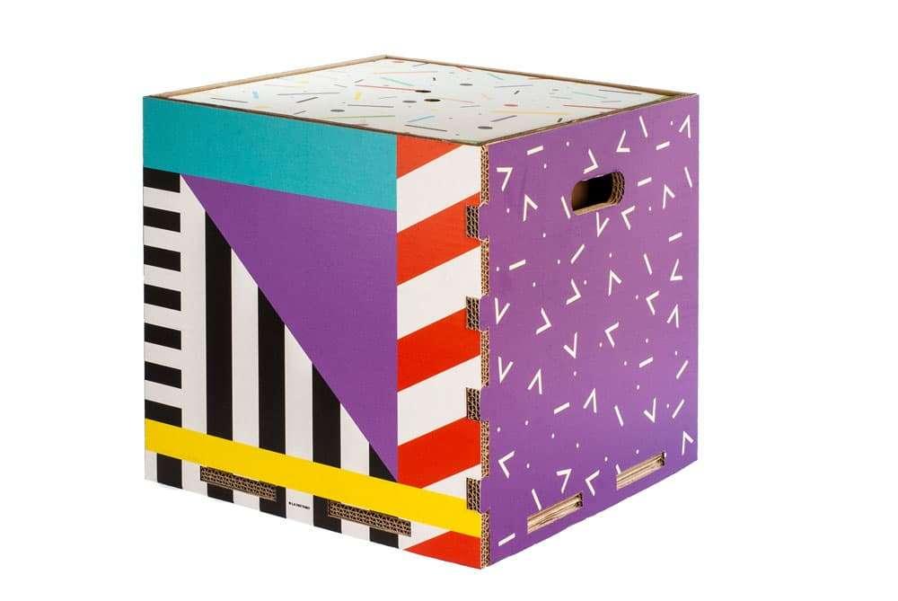 eco box rippotai pouf in cartone
