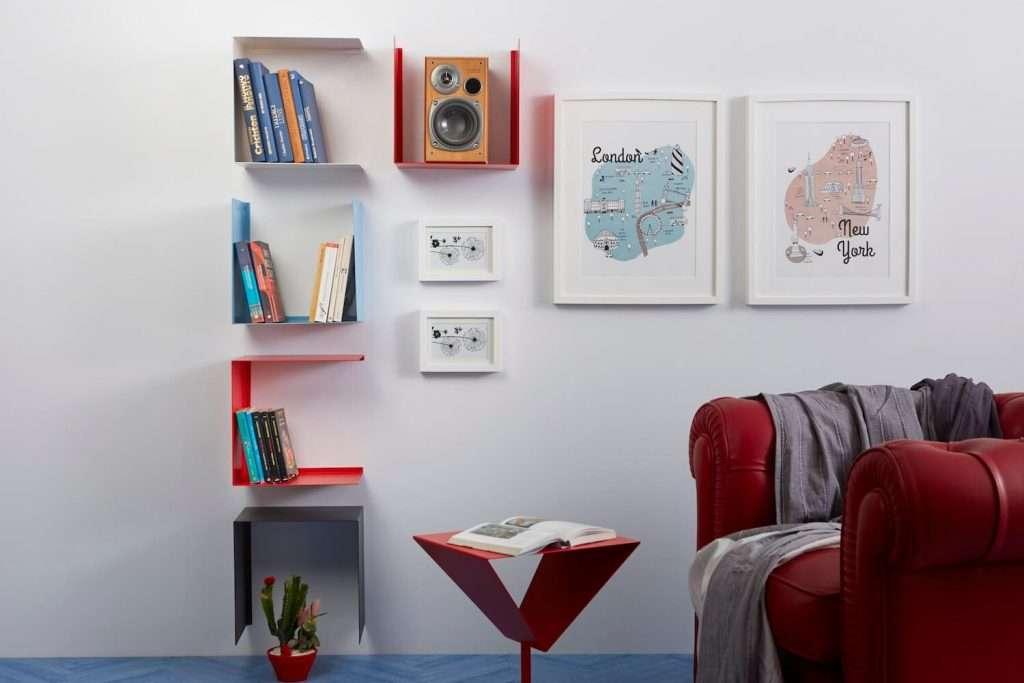 mensole di design per il soggiorno