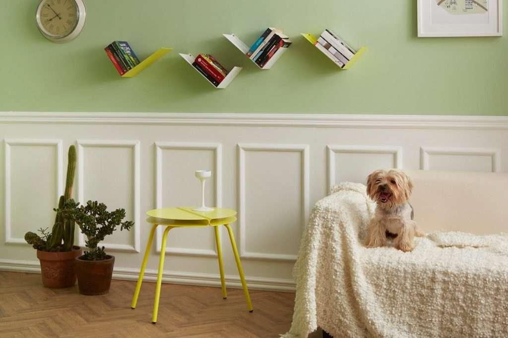Mensole design a L BOOMERANG per soggiorno color bianco