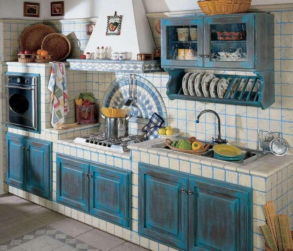Cucine rustiche 5 dettagli a cui fare attenzione fillyourhomewithlove for Piastrelle rivestimento cucina rustica