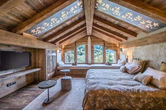 case in montagna di design zona living