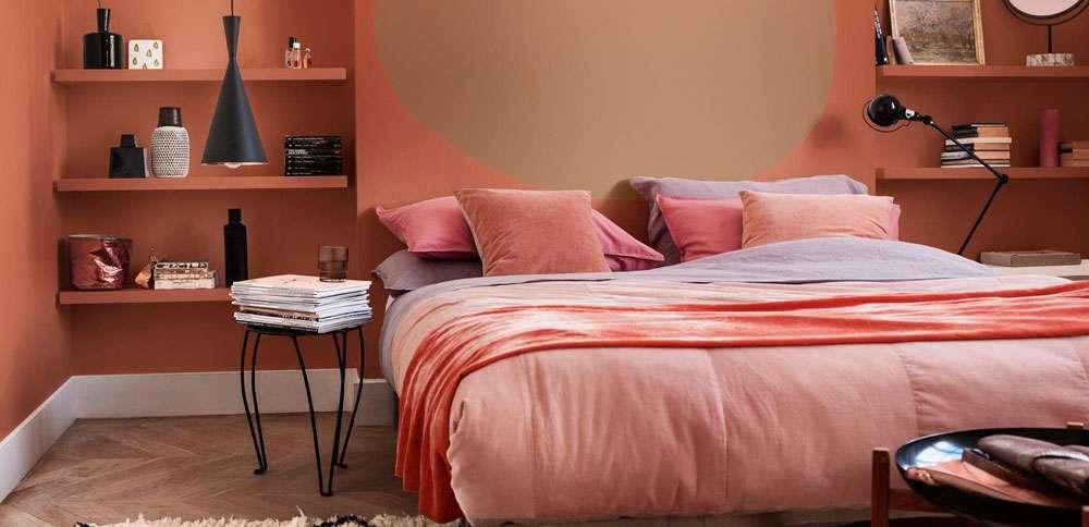 come arredare la camera da letto color cipria